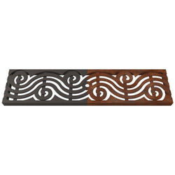 Argo Cast Iron Channel Drain Grate 494 x 122mm Heel Proof (20 x 5 Inch), Channel Drain Grate - Lateral Design Studio