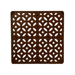 Interlaken Cast Iron Square Gully Cover 297mm (12 Inch), Manhole/Gully Covers - Lateral Design Studio