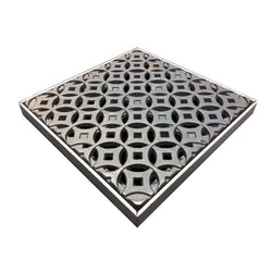 Interlaken Cast Iron Square Gully Cover 297mm (12 Inch)