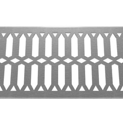 Diamond 304 Stainless Steel Channel Drain Grate 125 x 1000mm (5 Inch)