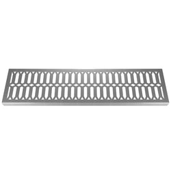 Diamond 304 Stainless Steel Channel Drain Grate 125 x 1000mm (5 Inch), Channel Drain Grate - Lateral Design Studio