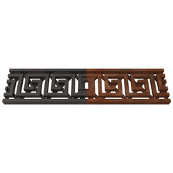 Greek Key Cast Iron Channel Drain Grate 494 x 122mm (20 x 5 Inch), Channel Drain Grate - Lateral Design Studio