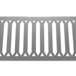 Hexagon 304 Stainless Steel Channel Drain Grate 125 x 1000mm (5 Inch)