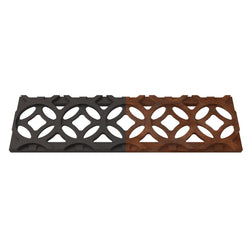 Interlaken Cast Iron Channel Drain Grate 278 x 71mm (11 x 3 Inch), Channel Drain Grate - Lateral Design Studio