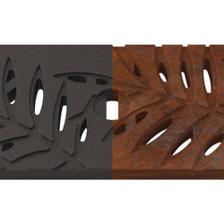 Locust Cast Iron Channel Drain Grate 494 x 122mm (20 x 5 Inch), Channel Drain Grate - Lateral Design Studio