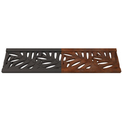 Locust Cast Iron Channel Drain Grate 300 x 70mm (12 x 3 Inch), Channel Drain Grate - Lateral Design Studio