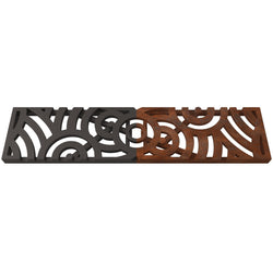 Oblio Cast Iron Channel Drain Grate 494 x 122mm (20 x 5 Inch)
