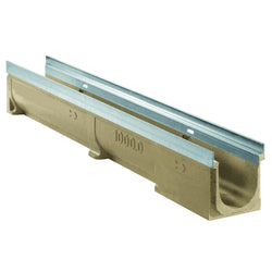 Aquascape Poly-Concrete Channel Drain with Stainless Steel Edge 1000L x 130W x 150H - C250 Class (5 Inch)