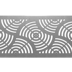 Waves 304 Stainless Steel Channel Drain Grate 125 x 1000mm (5 Inch), Channel Drain Grate - Lateral Design Studio