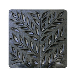 Botanical Plastic Square Gully Cover 305mm - Black (12 Inch), Manhole/Gully Covers - Lateral Design Studio