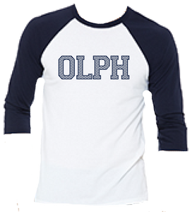 School Chevron 3/4 sleeve Baseball Tee 2 colors