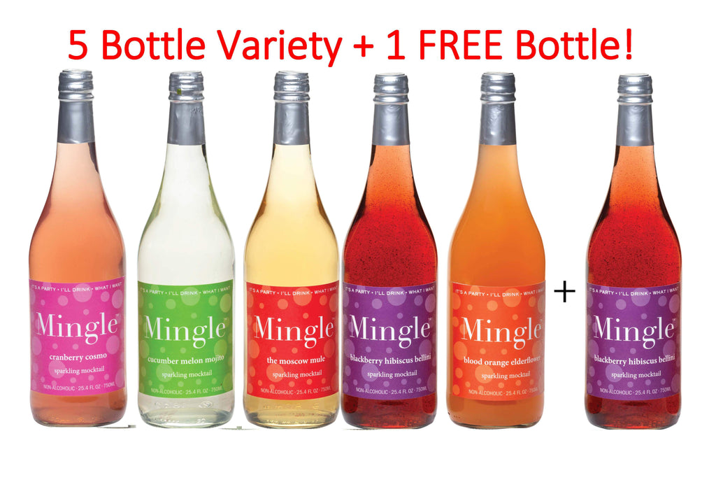 Mingle Mocktails 1 FREE BOTTLE with 5 Bottle Variety Pack!
