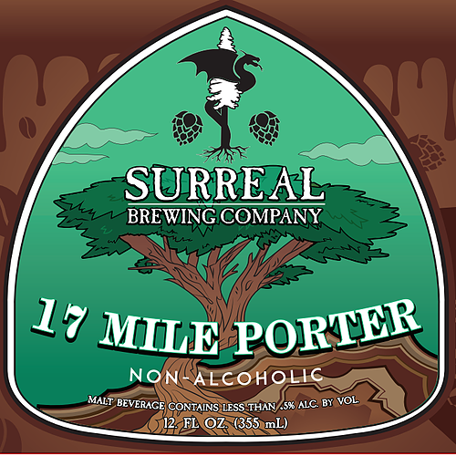 Surreal Brewing 17 Mile Porter (Non-Alcoholic) 6-Pack