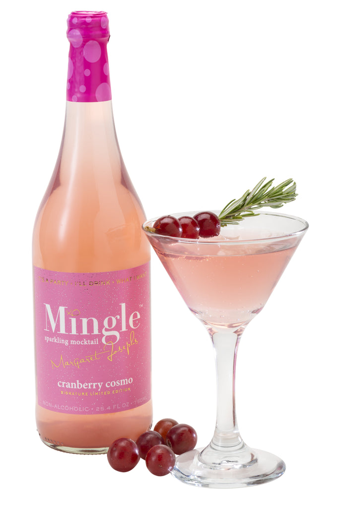Mingle Mocktails Signature Cranberry Cosmo Sparkling Non-Alcoholic Cocktail - 750ml - LIMITED EDITION!