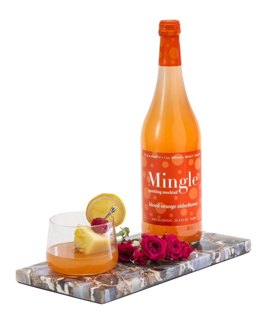 Mingle Mocktails 1 Blood Orange / 1 Mojito / 2 Bellini -  Sparkling Non-Alcoholic Cocktail - 4 Bottle Variety Pack