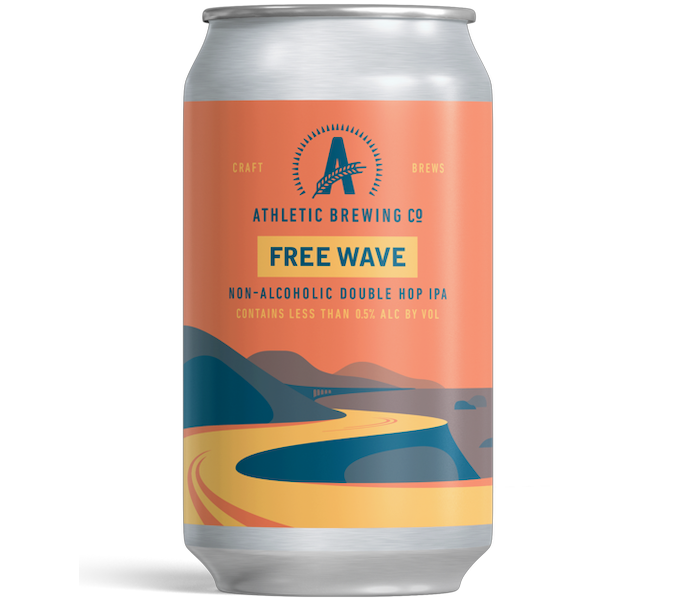 Athletic Brewing Free Wave Double Hop IPA (Non-Alcoholic) 6-Pack