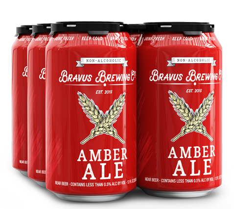 Bravus Brewing Amber Ale (Non-Alcoholic) 6-Pack