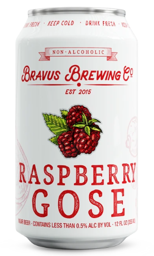 Bravus Brewing Raspberry Gose (Non-Alcoholic) 6-Pack
