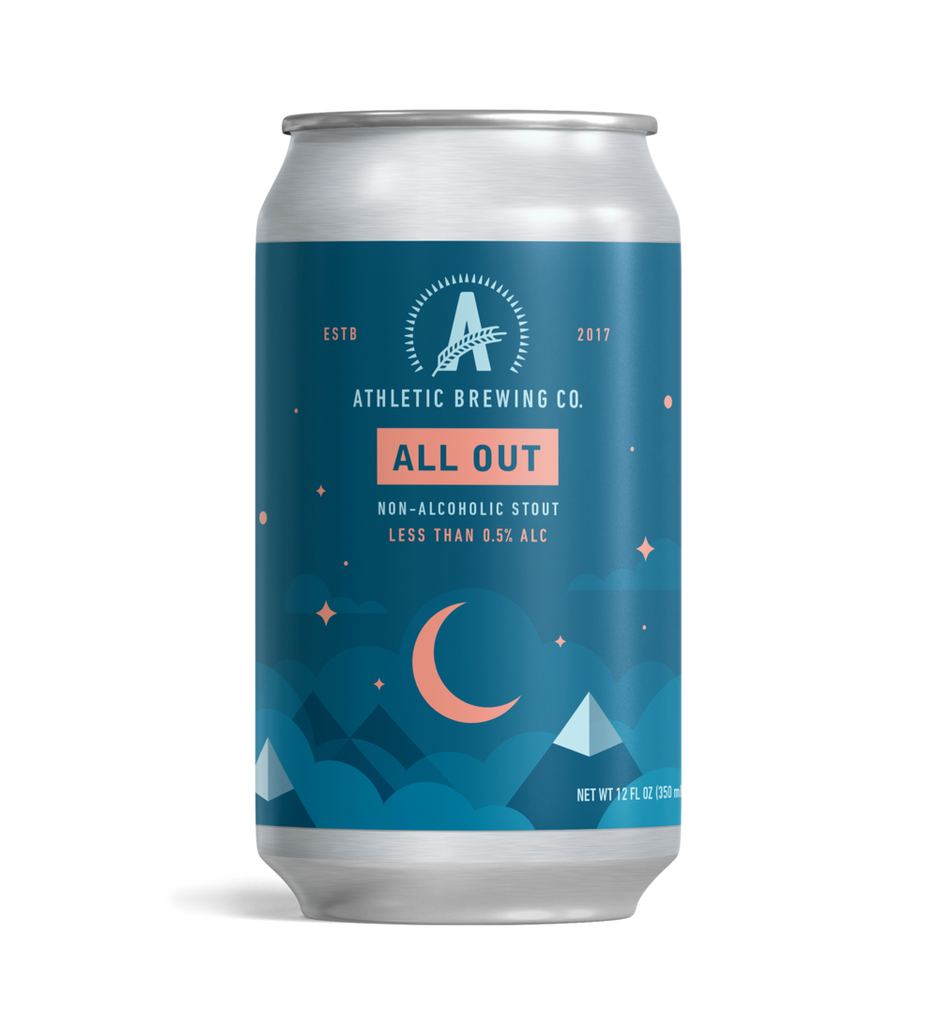Athletic Brewing All Out Stout (Non-Alcoholic) 6-Pack