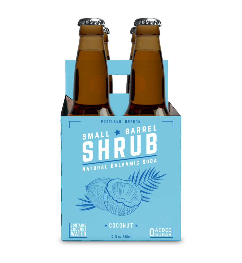 Drink Shrub Coconut Natural Balsamic Soda (Non-Alcoholic) 4-Pack