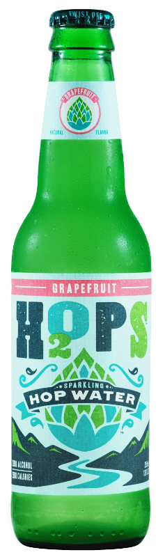 H2OPS Hopped Sparkling Water - GRAPEFRUIT (Non-Alcoholic) 4-Pack