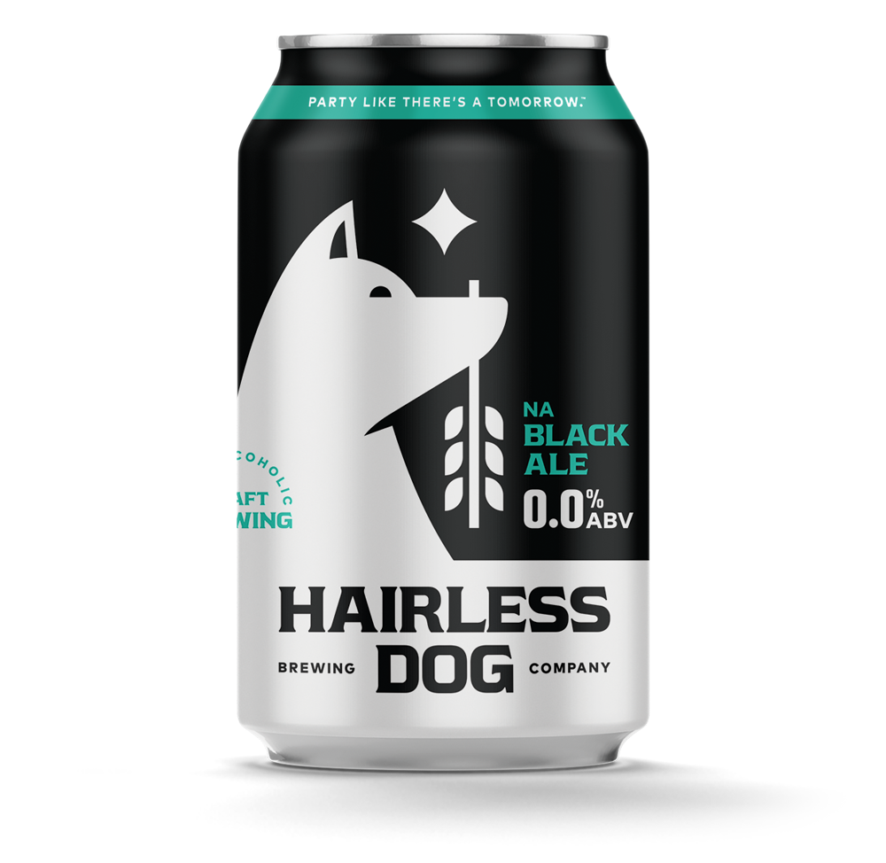 Hairless Dog Brewing NA Black Ale (Non-Alcoholic) 6-Pack