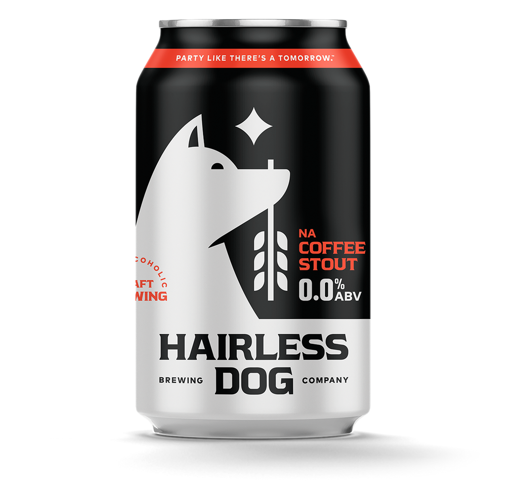 Hairless Dog Brewing NA Coffee Stout (Non-Alcoholic) 6-Pack