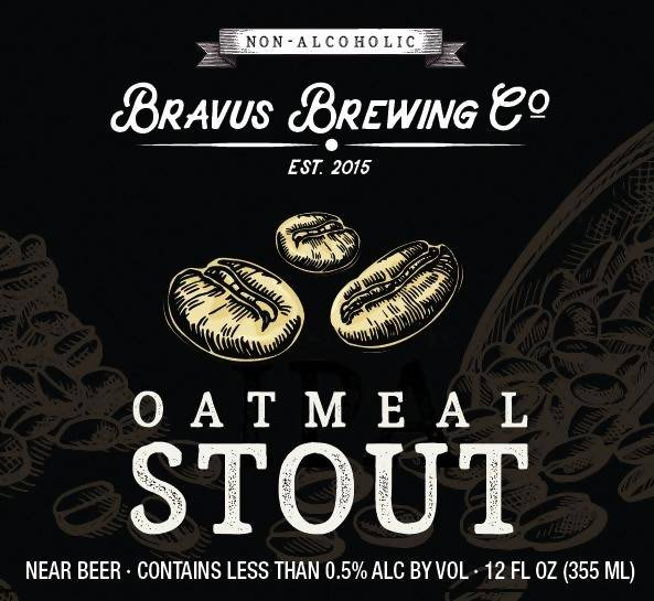 Bravus Brewing Oatmeal Stout (Non-Alcoholic) 6-Pack