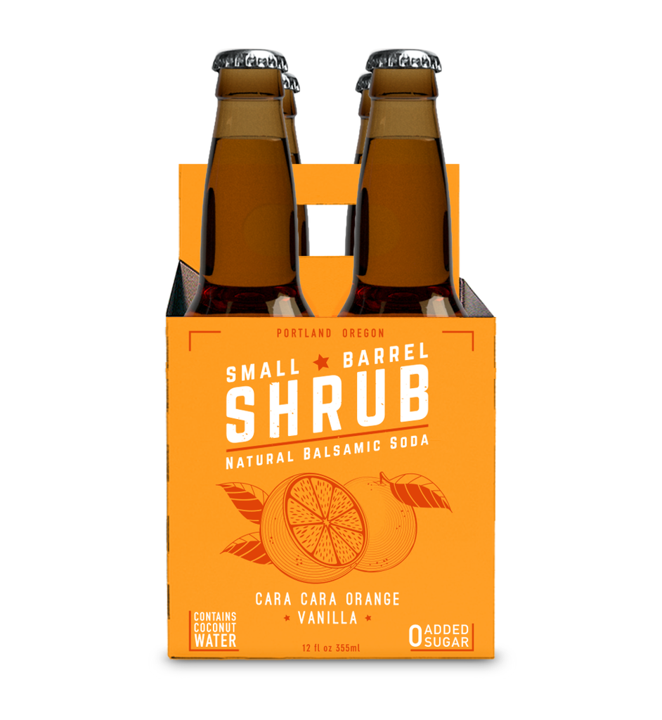 Drink Shrub Cara Cara Orange Vanilla Natural Balsamic Soda (Non-Alcoholic) 4-Pack