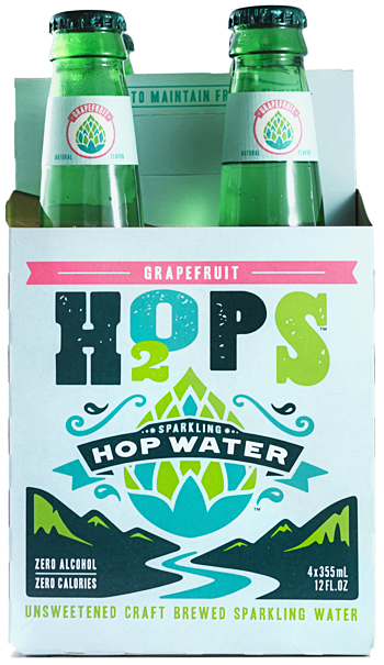 H2OPS Hopped Sparkling Water - GRAPEFRUIT (Non-Alcoholic)