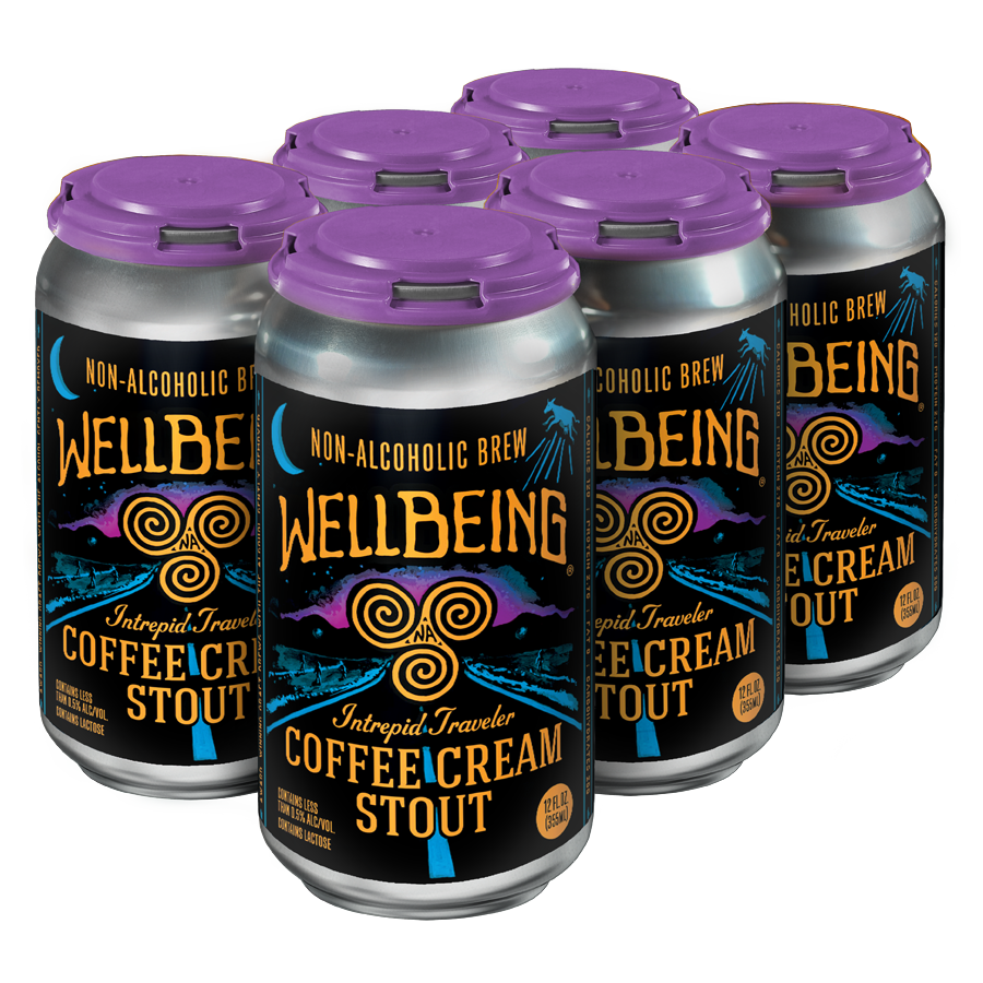 WellBeing Brewing Intrepid Traveler Coffee Cream Stout (Non-Alcoholic) 6-Pack