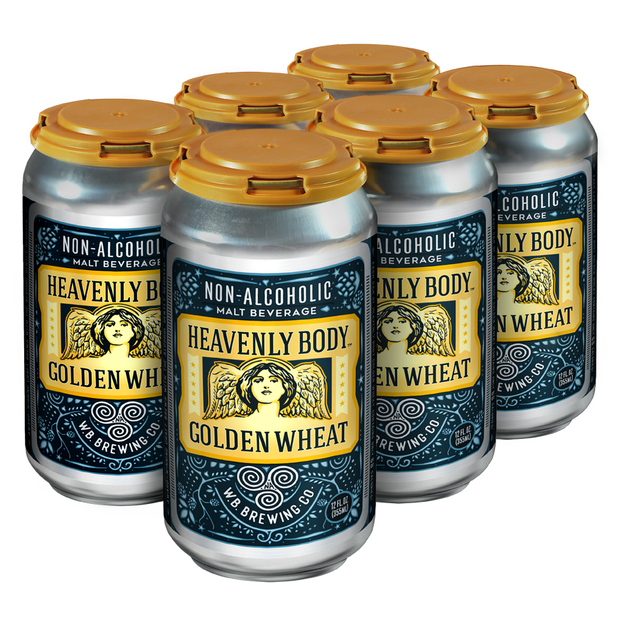 WellBeing Brewing Heavenly Body Golden Wheat (Non-Alcoholic) 6-Pack