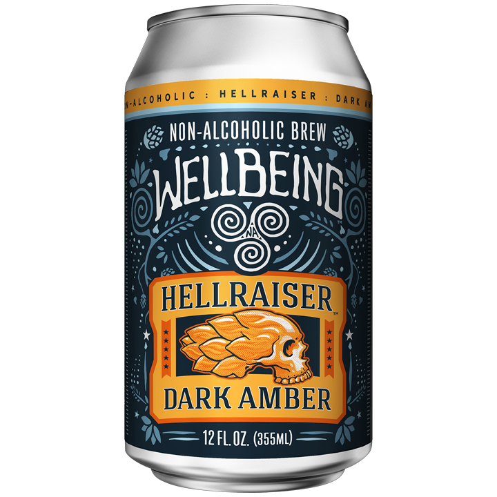 WellBeing Brewing Hellraiser Dark Amber (Non-Alcoholic) 6-Pack
