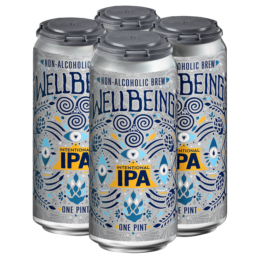 WellBeing Brewing Intentional IPA (Non-Alcoholic) 4-Pack