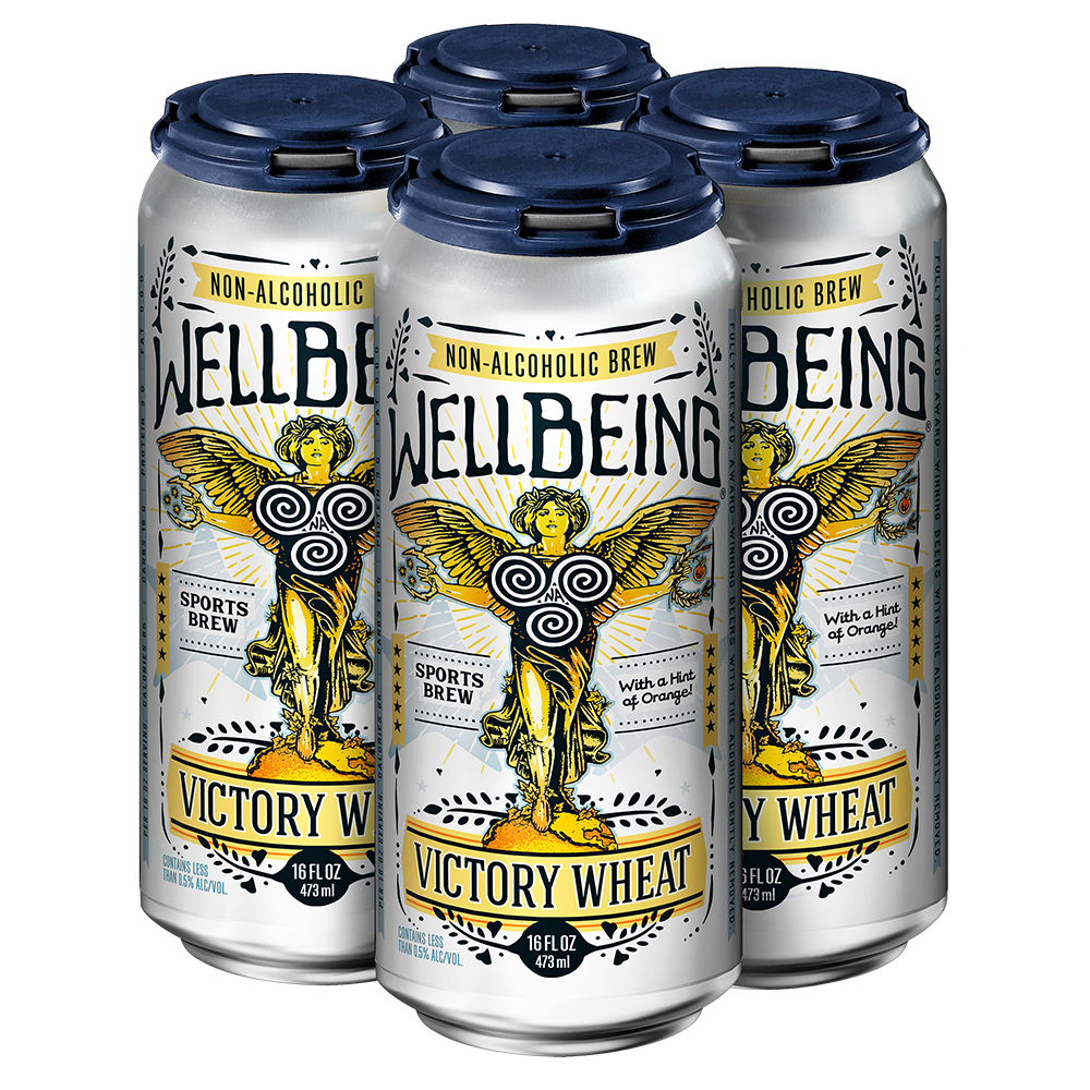 WellBeing Brewing Victory Wheat + Electrolytes (Non-Alcoholic) 4-Pack