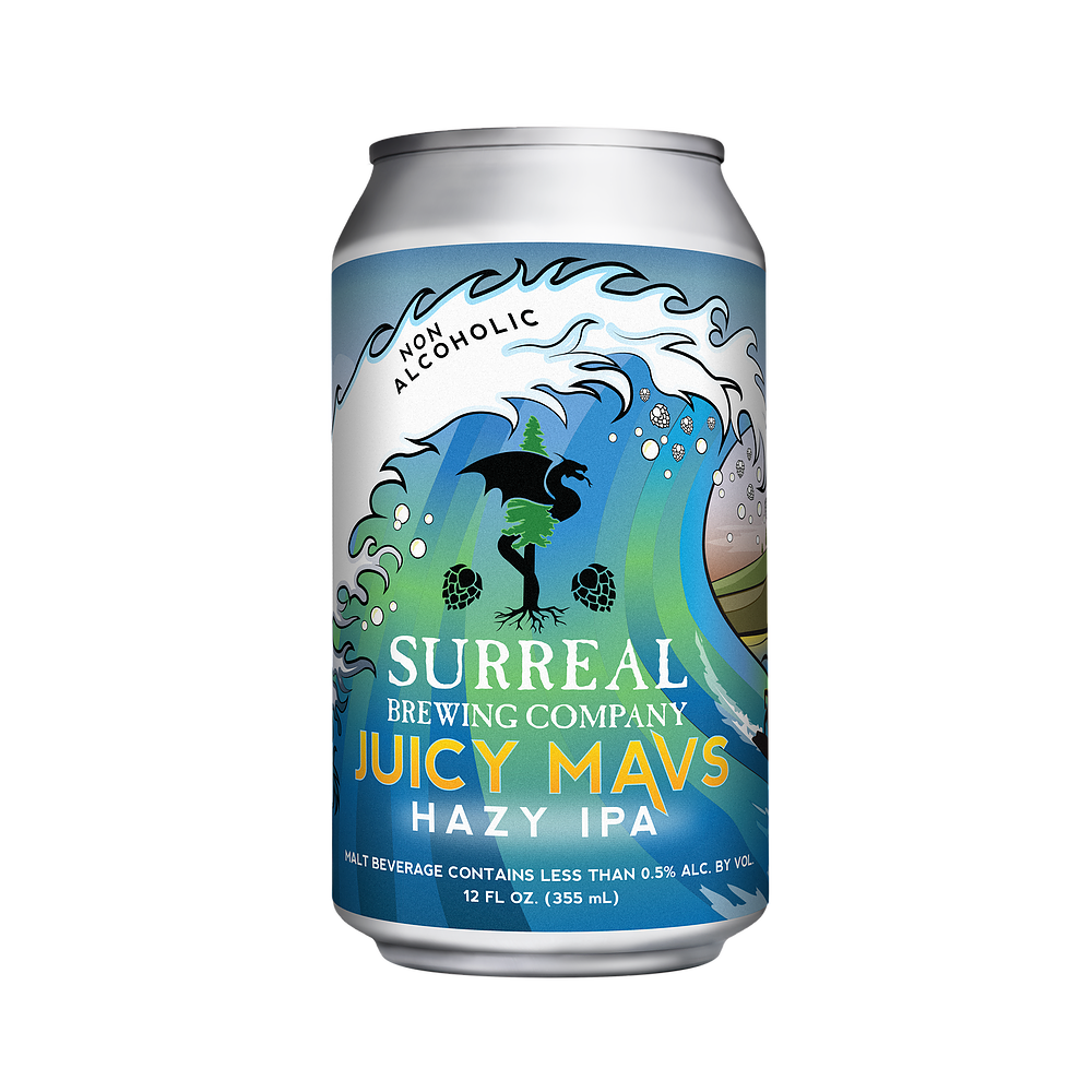 Surreal Brewing Juicy Mavs Hazy IPA (Non-Alcoholic) 6-Pack