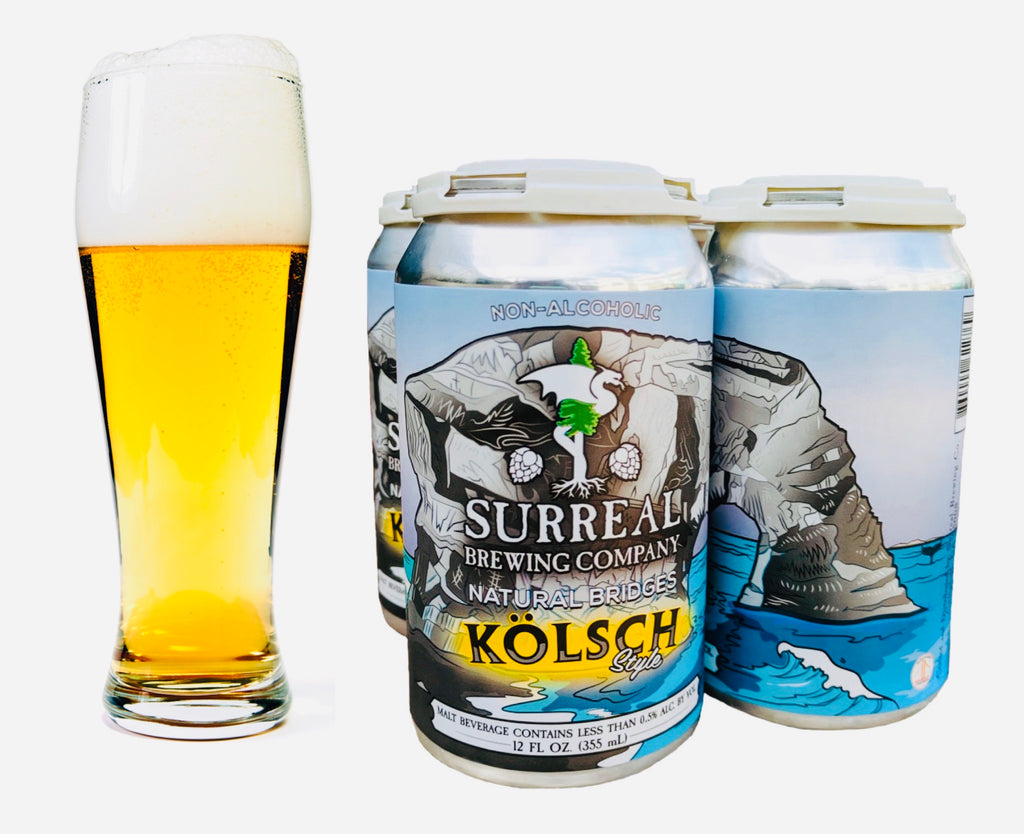 Surreal Brewing Natural Bridges Kolsch Style (Non-Alcoholic) 6-Pack