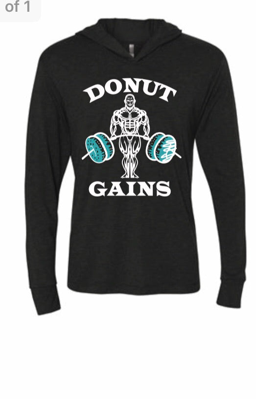 Tri-blend hoodie Donut Lifter