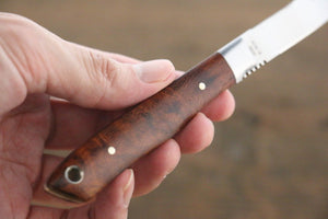 Moki Trout & Bird Fixed Blade Knife w/ Chinese Quince (dark)