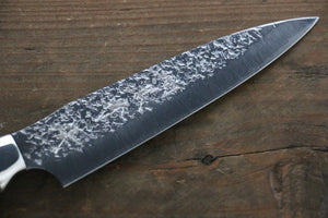 Yu Kurosaki Shizuku R2/SG2 Hammered Petty Japanese Chef Knife 120mm with Iron Wood Handle