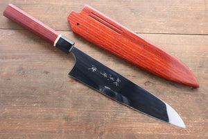 Yu Kurosaki R2/SG2 Mirrored Gyuto Japanese Chef Knife 240mm Padoauk Handle With Saya