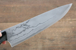 Kazuo Nomura White Steel No.2 Damascus Gyuto Japanese Knife 180mm with Micarta Handle