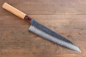 Sakai Takayuki VG10 33 Layer Damascus Japanese Chef Knife Sujihiki 240mm, Gyuto 240mm& Petty 150mm Set with Keyaki Handle(Japanese Elm)