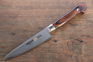 Iseya Molybdenum Steel Petty Japanese Chef Knife 120mm & Gyuto Knife 210mm with Mahogany Packer wood Handle Set (Ferrel : Stainless Steel)