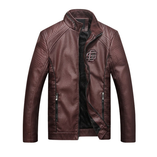 Men Leather Autumn spring Motorcycle Bomber Jackets.