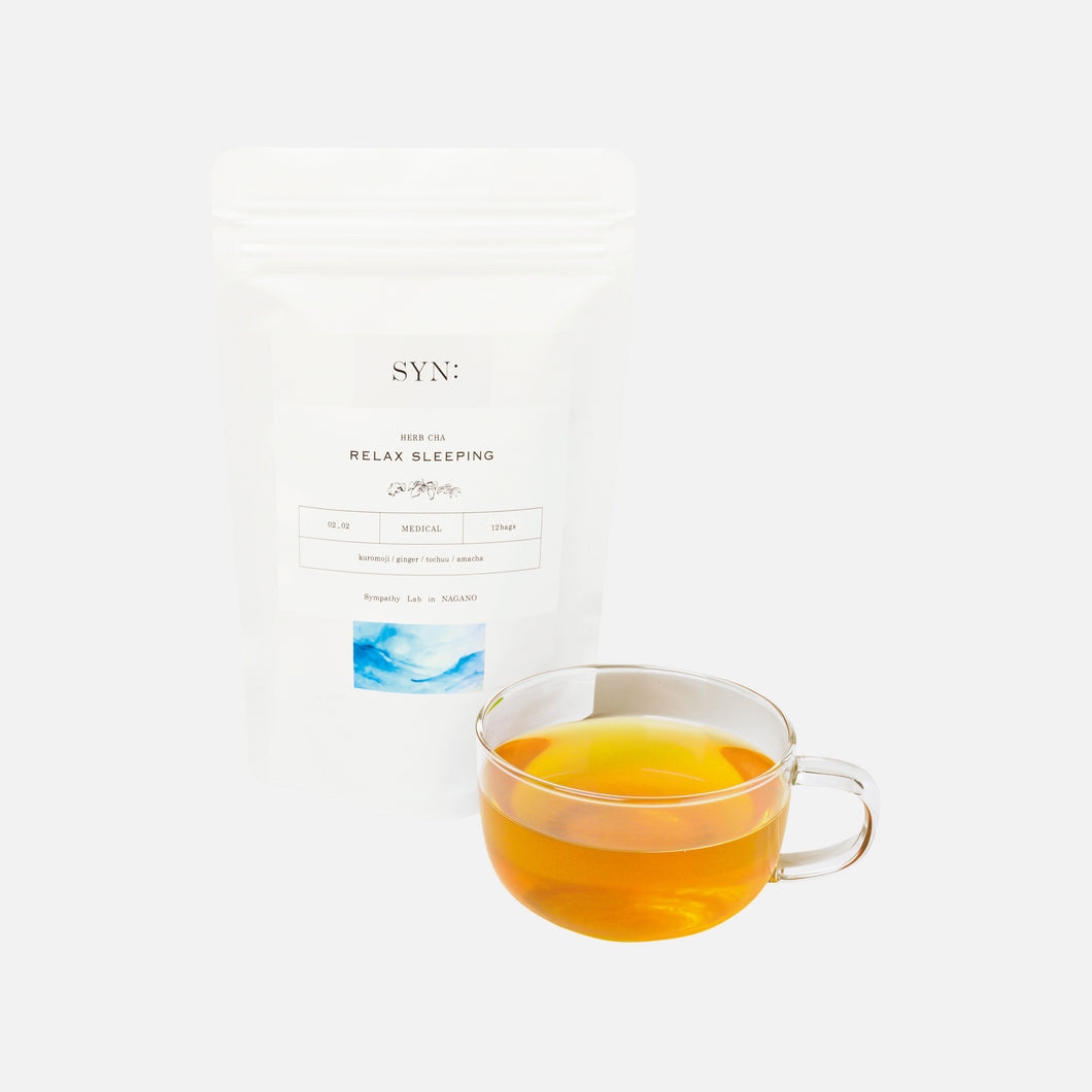 【SYN:】<br>RELAX SLEEPING HERB CHA