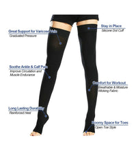 Load image into Gallery viewer, Thigh high compression socks 20-30 mmGh