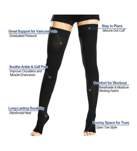 Thigh high compression socks 20-30 mmGh