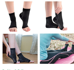 Ankle compression socks.