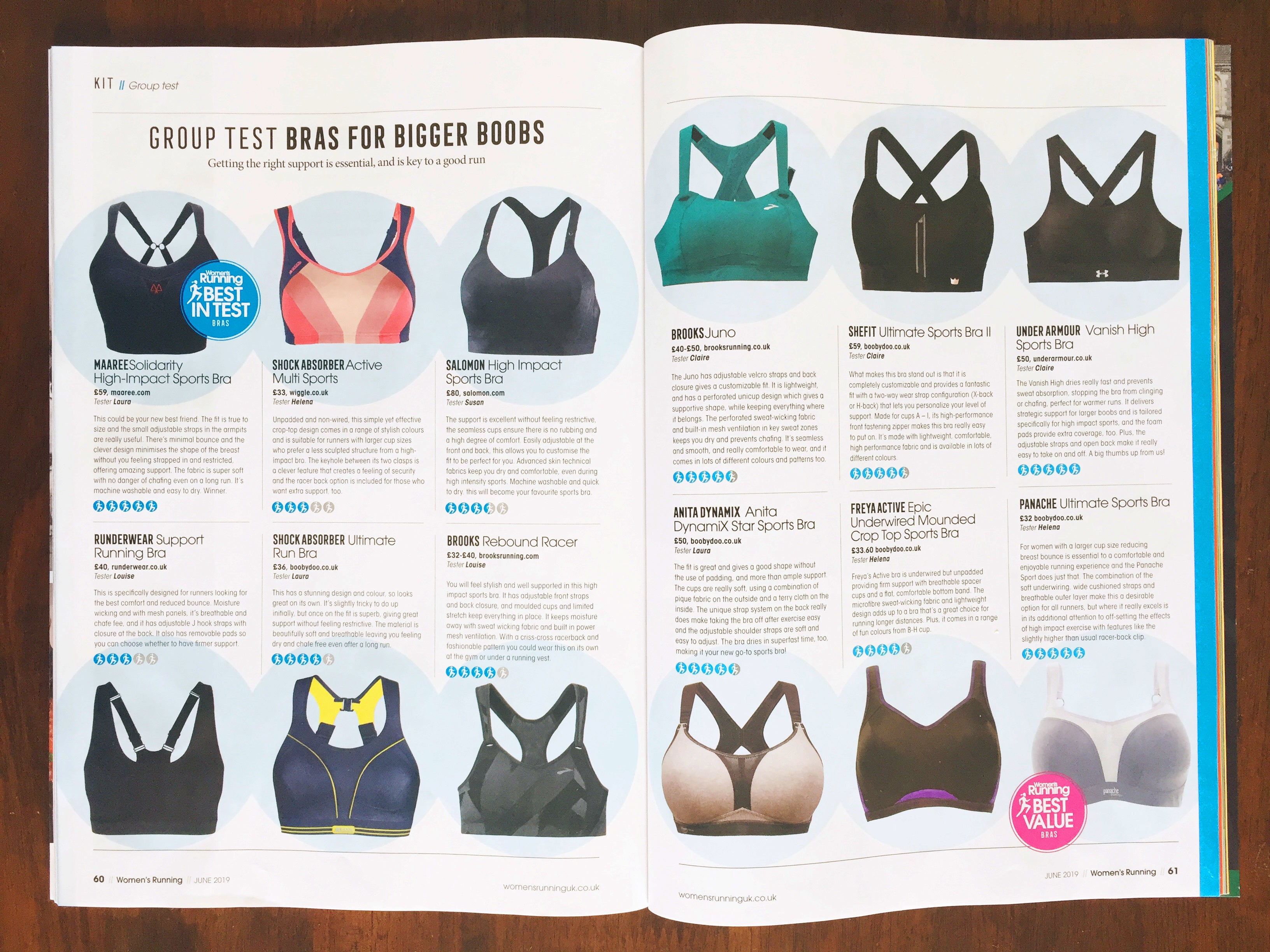 Women's Running Magazine Sports Bra review for big boobs